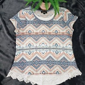 Absolutely Famous Kint Lace Blouse